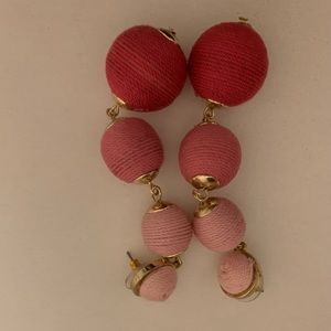 Pink ombré Bauble Bar earrings